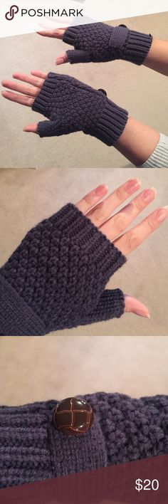BRAND NEW Fingerless Gloves Brand new still with plastic from tag! Grayish blue color! Handmade! Never worn! Accessories Gloves & Mittens