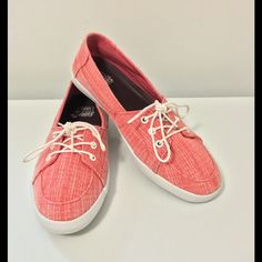 Vans surf siders shoes Cute Vans Original Surf Siders Shoes Preowned! Worn only once! Color is Coral ! Women's size 8 Vans Shoes Espadrilles