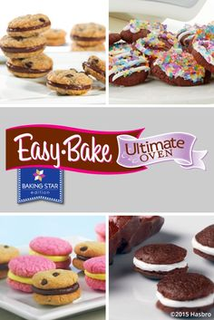 Welcome to the Easy-Bake Oven official website! Find Easy-Bake Oven recipes and accessories so you can Easy-Bake and decorate the most delicious of treats. Easy No Bake Cookies, Cookies For Kids, Cake Mix Cookies, Easy Baking Recipes, Oven Recipes, Cookie Recipes, Xmas Recipes, Easy Bake Oven Refills, Easy Bake Oven Mixes