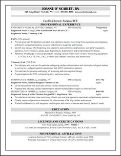 cicu registered nurse resume