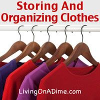 7 tips for Storing and Organizing Clothes. Try these easy ideas! They'll save you time and money and make it easier dealing with your laundry!