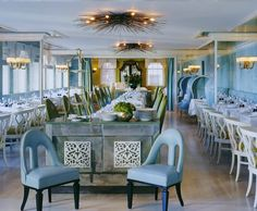Janelle McCulloch's Library of Design: Is Periwinkle The Perfect Blue?-NYC restaurant at top of Bergdorfs-go with Emma