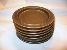 "Lot 7  Ruska Pattern Arabia Pottery Finland 6 1/4"" Bread and Butter Plates Ulla Procope."
