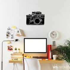 Hey, I found this really awesome Etsy listing at https://www.etsy.com/ca/listing/228873283/camera-wall-decal-photography-wall