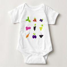 #cute #baby #bodysuits - #Cute hand-drawn Art Fruit edition Baby Bodysuit