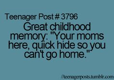 hahaha i so remember doing this when i went to a friends house back when i was younger. Teen Quotes, Teenager Quotes, Funny Memes, Funny Quotes, Teen Posts, Teenager Posts, Funny Posts, Relatable Posts, Just For Laughs