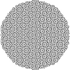 Diffraction pattern of a penrose tiling