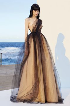 Shop Alicia One Shoulder Gown. This **Alex Perry** Alicia One Shoulder Gown features a one shoulder ruched bodice and a full ball skirt with a tulle overlay. Long Prom Gowns, Formal Evening Dresses, Formal Gowns, Dress Long, Long Dresses, A Line Dress Formal, Prom Long, Formal Prom, Pretty Dresses