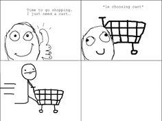 Fun with a shopping cart. Me gusta.