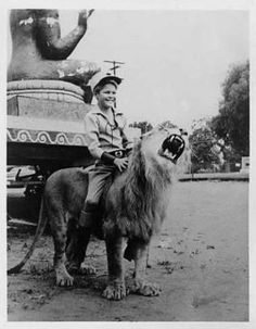 Mickey Dolenz, shooting his TV series, Circus Boy  (1956-1957). I loved this show when I was itty bitty!  He later went on to become one of the Monkees. LTM