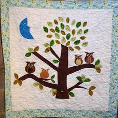 Owl Baby Quilt Owl Watch Over You Baby/Child by clubaloha