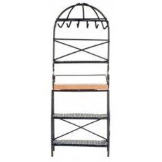 AZTEC FURNITURE - Metal Kitchen Rack, Black Wire - 1 Inch Scale Dollhouse Miniature (D6815) 717425068156 B003BQ61Z8