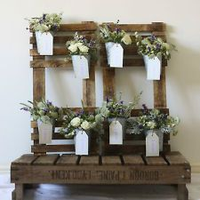 Rustic Wedding Table Plan With Flower Pots | Wedding Seating Chart