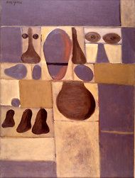 "Adolph Gottlieb's ""Pictograph (Yellow and Purple)."""