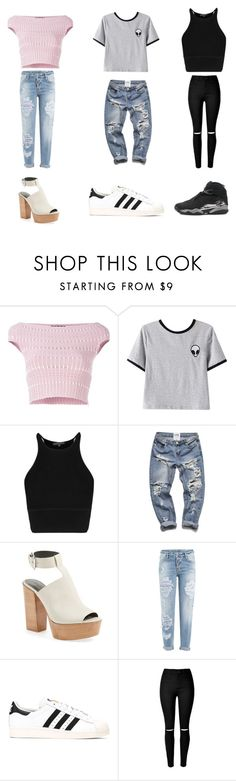 """1 2 or 3"" by sydneybushh on Polyvore featuring Alexander McQueen, Chicnova Fashion, Rebecca Minkoff, Dsquared2, adidas, NIKE, women's clothing, women, female and woman"