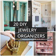 20 DIY Jewelry Organizers tutorials DIY Tutorials for Your Home