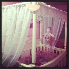 Disney enchanted princess canopy crib. Mia's next canopy decor.