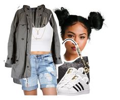"""""""Low life"""" by queen-tiller ❤ liked on Polyvore featuring Michael Kors, Zara, Topshop, Crislu and adidas"""