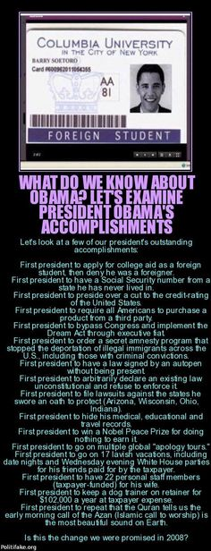 What do we know about president Obama? Let's examine his accomplishments