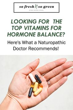 Here are the top vitamins for hormone imbalance and what a naturopathic doctor recommends! There are SO many vitamins, pills, herbs and other medicinal concoctions advertised today it's hard to know: a) what you really should be taking and b) whether or not you're actually benefiting from taking it. #vitamins #supplements Seed Cycling, Clean Diet, Hormone Imbalance, Hormone Balancing, Menstrual Cycle, Food Allergies, Eating Well, Pills, How To Introduce Yourself
