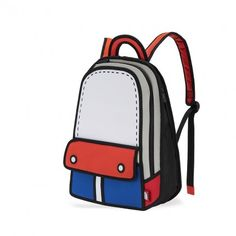 cartoon bags by jump from paper