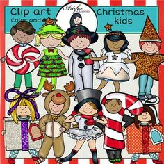 *50% off for the first 48 hours*Christmas Kids clip art set features 19 items: 10 clip arts in color. 9 clip arts in black & white.All images are 300 dpi, Png files.This clipart license allows for personal, educational, and commercial small business use.