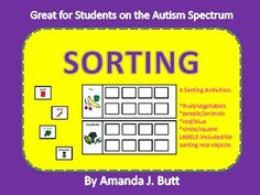 SORTING activity - work stations; centers; Autism; Special Needs: Primary Grades