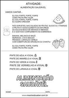 Projeto Alimentacao Saudavel Educacao Infantil Vamos Cantar