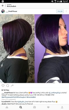 Inverted bob purple