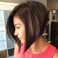 Short Sleek Inverted Bob haircut