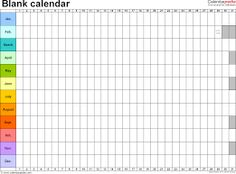 Blank Calendar Print Out  For The Home    Blank