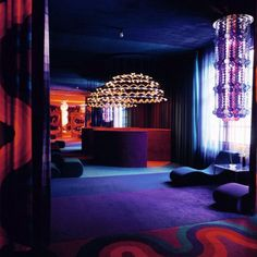 Verner Panton Interior, purple and red