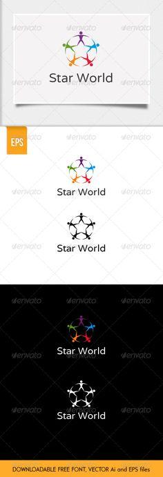 Star World - Logo Design Template Vector #logotype Download it here: http://graphicriver.net/item/star-world-logo/6373216?s_rank=1650?ref=nesto