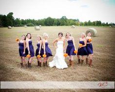 Blue and orange country wedding. - Coty wouldn't let me do Orange & Blue. Jennifer says he sucks.