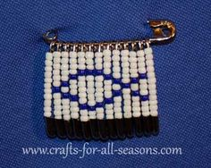 Free Jesus fish beaded safety pin pattern at Crafts For All Seasons
