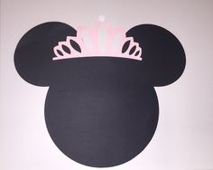 Minnie Mouse head placemat by JCBelleCreations on Etsy