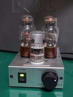 プレート電圧24Vで動作する 1626真空管ステレオアンプ 1626 low plate voltage vacuum tube amplifier