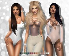 Clothing: Bodysuits No1 from Alaina Vesna • Sims 4 Downloads