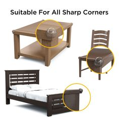 SAS KiddyCare Baby Corner Protector Guards – with Strong Clear Adhesive for Babies and Kids Furniture Safety Such As - Dining Coffee Tables Edges and Desks - Child Protection Proofing Your Home Coffee Table Edging, Baby Corner, Injury Prevention, Kids Furniture, Children, Home, Furniture For Kids, Young Children, Boys