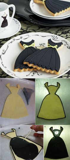 Black Dress Cookies Recipe. For gift boxes please visit us at: www.betterbakersbox.com