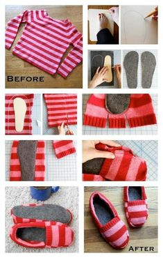 Cute DIY sweater/slippers Idea