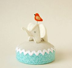 baby elephant pincushion found at lifepieces on Etsy.