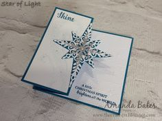 The Craft Spa - Stampin' Up! UK independent demonstrator : Fancy Frost & Star of Light Z Fold Card