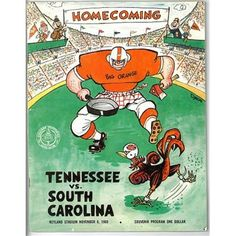 RDB Holdings & Consulting Tennessee Volunteers VS South Carolina Gamecocks College Football Game Program - November 1969 - Very Minor Wear Tennessee Volunteers Football, Ut Football, College Football Games, Tennessee Football, Football Images, Neyland Stadium, Go Vols, Sports Art, Sports Logos