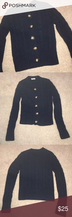 New Old Navy Blue Sweater Size Small New without tags never worn button down sweater.  Sleeves are 26 inches. Top to bottom is 22 inches. Old Navy Sweaters