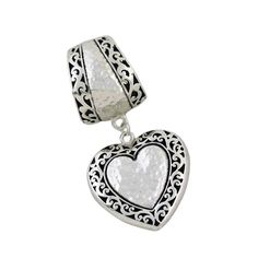 Heart Slide Pendant Scarf Jewelry - $11.90 - goes perfectly with http://www.purpleboxjewelry.com/products/scarf-jewelry/pairs-of-slide-scarf-jewelry-2.html