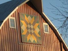 Woven Ribbon Star – rural Hamlin, IA - Painted Barn Quilts on Waymarking.com