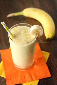 Banana Mango Yogurt Smoothie from www.chocolatemoosey.com @chocolatemoosey
