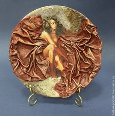 Powertex used here Textile Sculpture, Textile Art, Mixed Media Canvas, Mixed Media Art, Fabric Plasters, Decoupage Plates, Different Kinds Of Art, Ceramic Painting, Jars