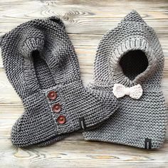 Discover thousands of images about Cute bear baby hoodie How To Start Knitting, Knitting For Kids, Crochet For Kids, Free Knitting, Knitting Needles, Baby Knitting Patterns, Knitting Designs, Crochet Patterns, Patron Crochet